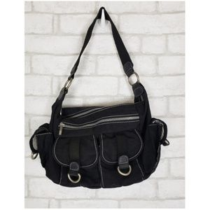 Travelon Black Shoulder Nylon Washable Travel Bag